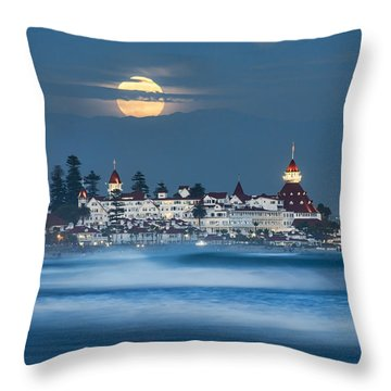 Under The Blue Moon Throw Pillow