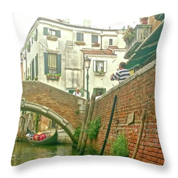 Throw Pillow featuring the photograph Under The Bridge by Anne Kotan