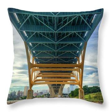 Under The Bridge Downtown Throw Pillow