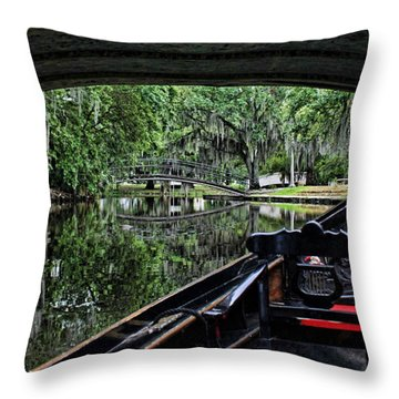 Under The Bridge Throw Pillow by Judy Vincent