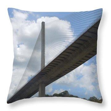 Under The Bridge Through Panama Throw Pillow