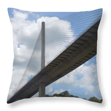 Under The Bridge Through Panama Throw Pillow