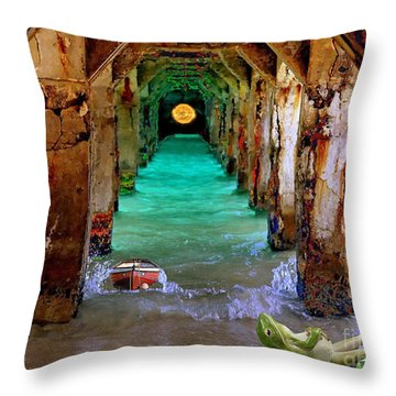 Under The Broadwalk Throw Pillow