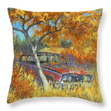 Under The Chinese Elm Tree Throw Pillow