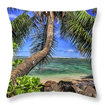 Under The Coconut Tree Throw Pillow