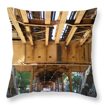 Under The El - 1 Throw Pillow by Ely Arsha
