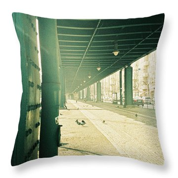 Under The Elevated Railway Throw Pillow