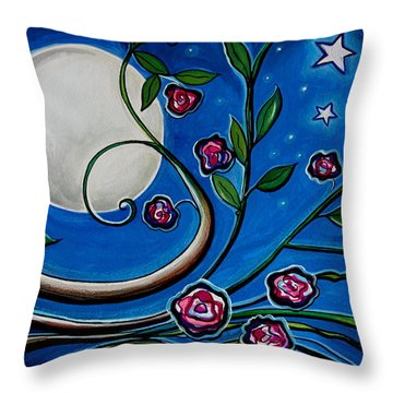 Under The Glowing Moon Throw Pillow