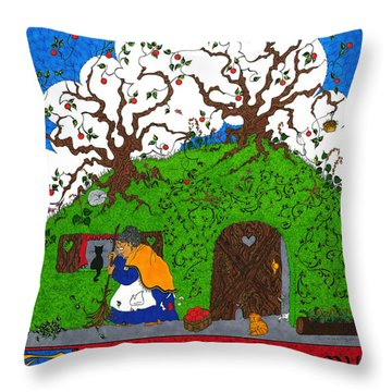 Under The Hill Throw Pillow