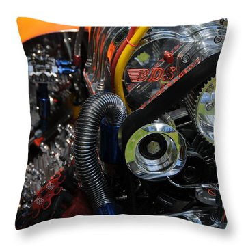 Under The Hood Throw Pillow by Mike Martin