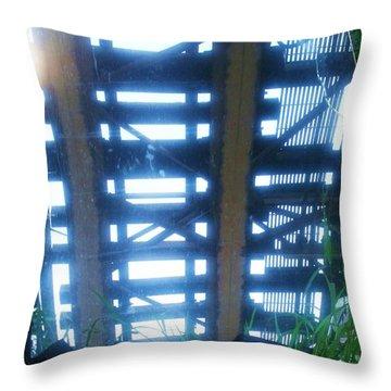 Under The L II Throw Pillow by Anna Villarreal Garbis