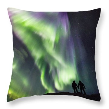 Under The Lights Throw Pillow