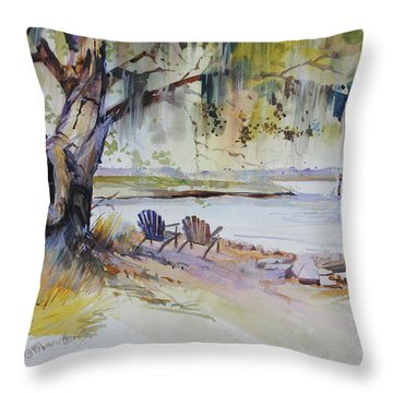 Under The Live Oak Throw Pillow