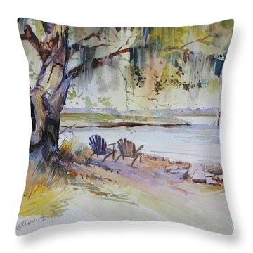 Under The Live Oak Throw Pillow