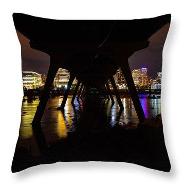 Under The Manchester Bridge Throw Pillow