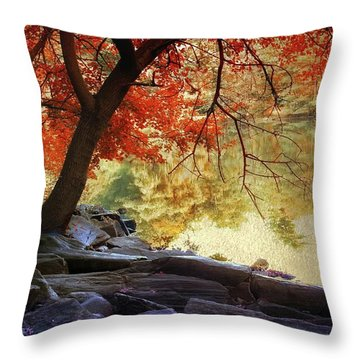 Under The Maple Throw Pillow by Jessica Jenney