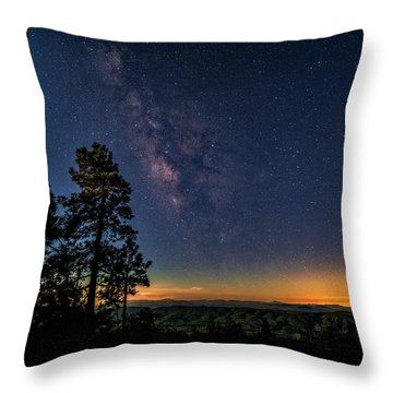 Throw Pillow featuring the photograph Under The Milky Way  by Saija Lehtonen
