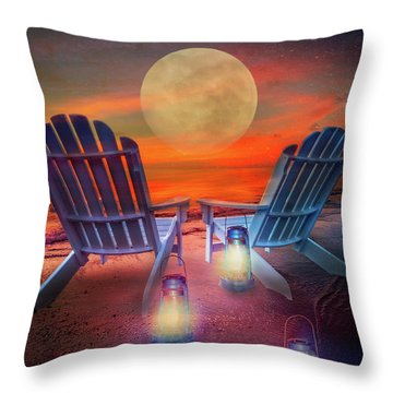 Throw Pillow featuring the photograph Under The Moon by Debra and Dave Vanderlaan