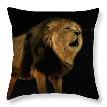 Under The Moon Throw Pillow by Scott Carruthers