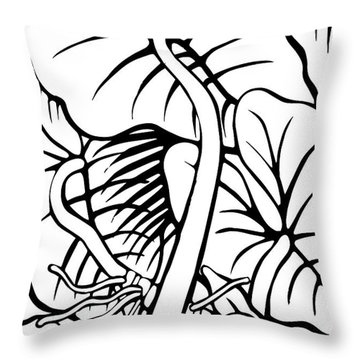 Under The Night Leaves Throw Pillow