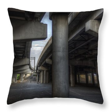 Throw Pillow featuring the photograph Under The Overpass I by Break The Silhouette