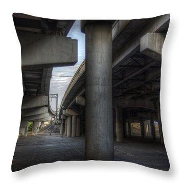 Under The Overpass I Throw Pillow