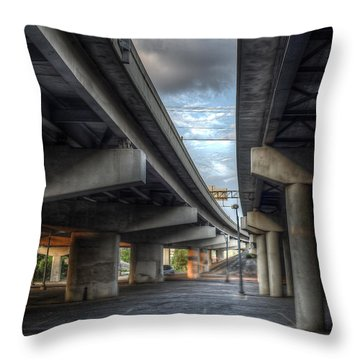 Throw Pillow featuring the photograph Under The Overpass II by Break The Silhouette