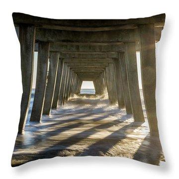 Under The Pier #2 Throw Pillow