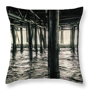 Under The Pier 3 Throw Pillow