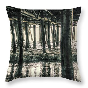 Under The Pier 5 Throw Pillow