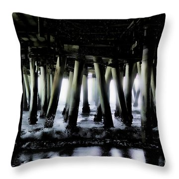 Under The Pier 6 Throw Pillow