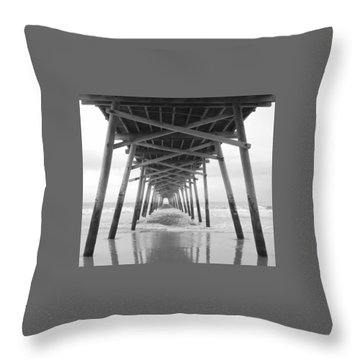 Under The Pier Throw Pillow by Betty Buller Whitehead