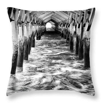 Pier - Myrtle Beach South Carolina Throw Pillow