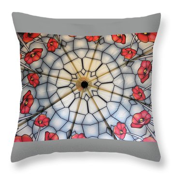 Under The Poppies Throw Pillow by Jewels Blake Hamrick