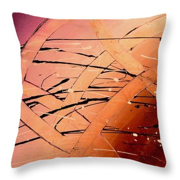 Under The Sea Abstract Modern Art By Saribelle Throw Pillow by Saribelle Rodriguez