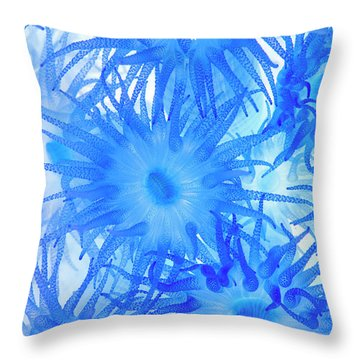 Throw Pillow featuring the photograph Under The Sea Colorful Watercolor Art #14 by Debra and Dave Vanderlaan
