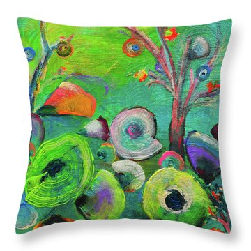 under the sea  - Orig painting for sale Throw Pillow