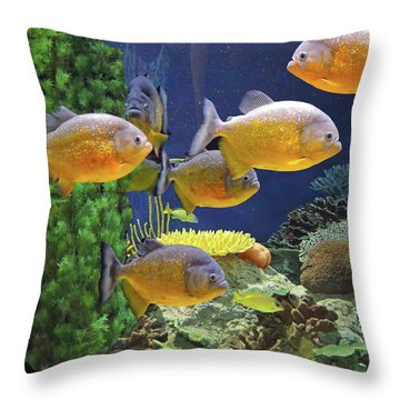 Throw Pillow featuring the photograph Under The Seen World 5 by Lynda Lehmann