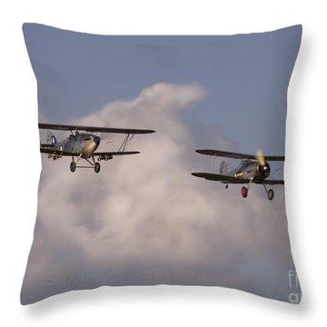 Under The Sky Throw Pillow by Angel Ciesniarska