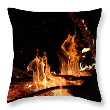 Under The Sparks Throw Pillow