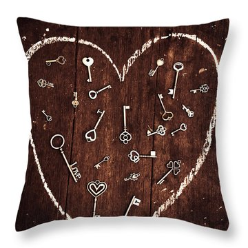 Under The Spell Of Love Throw Pillow