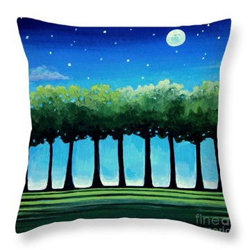 Under The Stars Throw Pillow by Elizabeth Robinette Tyndall