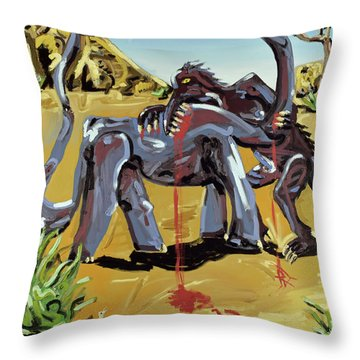 Throw Pillow featuring the painting Under The Sun by Ryan Demaree