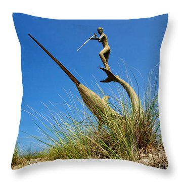 Throw Pillow featuring the photograph Under The Swordfish Harpooner Of Menemsha by Mark Miller