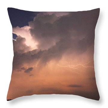 Under The Tempest Throw Pillow