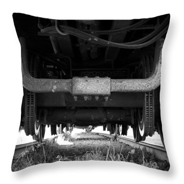 Under The Train Throw Pillow