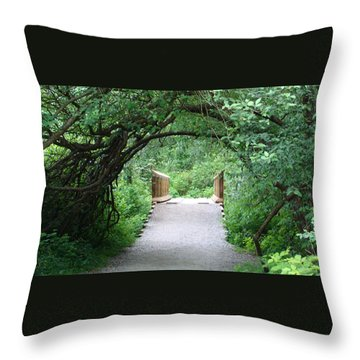Under The Tunnel Throw Pillow by Rod Jellison