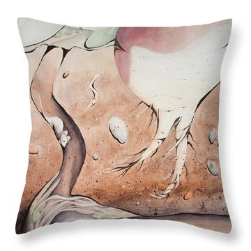 Under The Turnip Throw Pillow