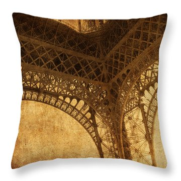 Under Tower Throw Pillow by Andrew Paranavitana