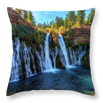Undercut Beauty Throw Pillow by James Heckt